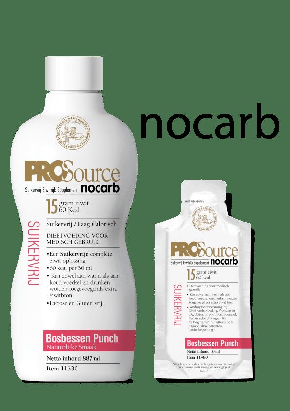 PROSource Nocarb fles en sachet